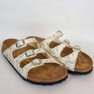 Birkenstock Papillio 3-Strap Sandal White Floral